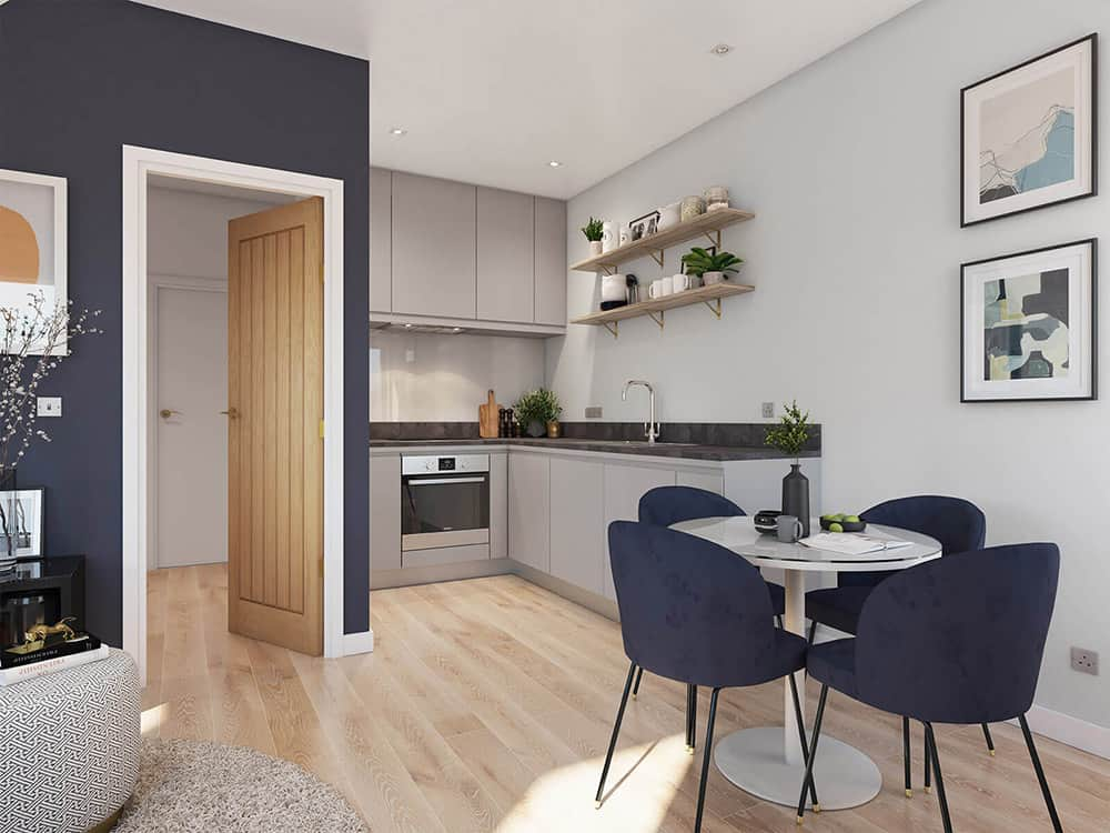 Tempus Court Interior Commercial to Residential Property Conversion Apartment