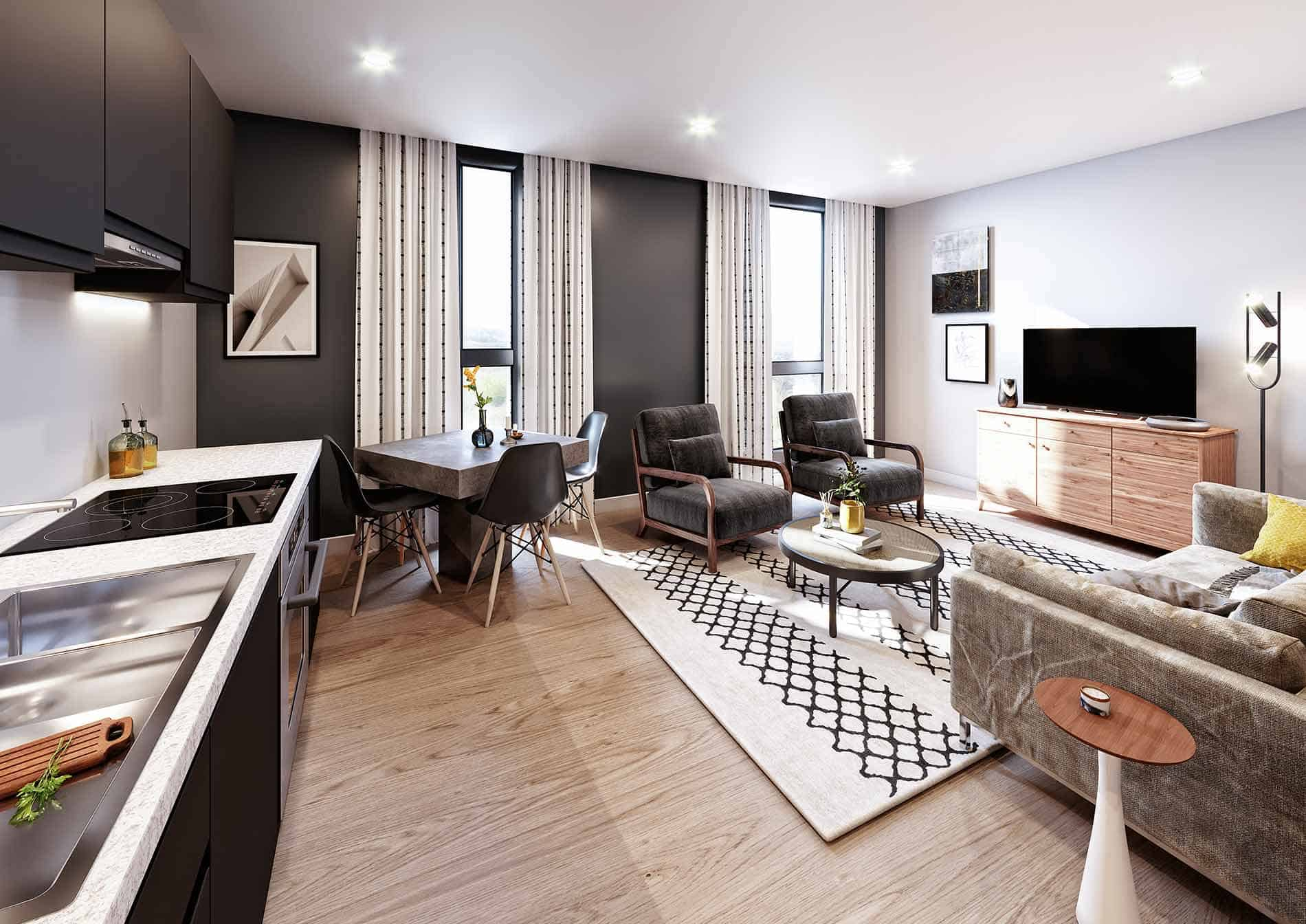 Coates House Interior Commercial to Residential Property Conversion Apartment