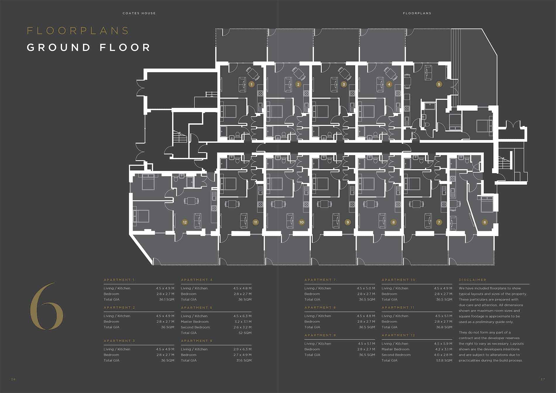 Coates House Ocea Floorplan Commercial to Residential Property Conversion Apartment