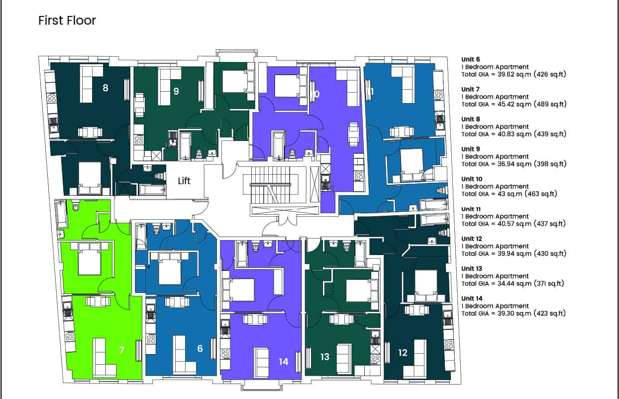 Hampton House Ocea Floorplan Commercial to Residential Property Conversion Apartment