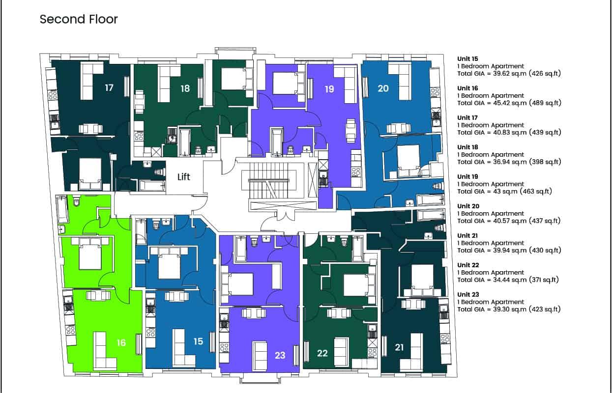 Hampton House Southampton :Ocea Floorplan Commercial to Residential Property Conversion Apartment