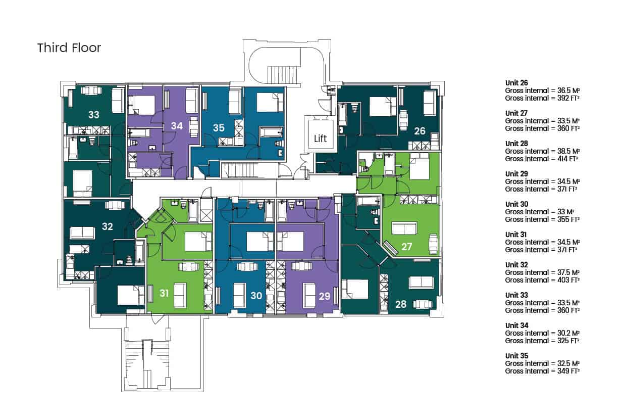 Hampton House Hemel Hempstead​ Ocea Floorplan: Commercial to Residential Property Conversion Apartment
