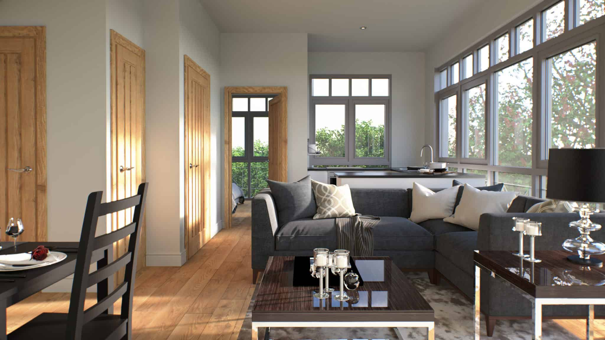 Normandy Court Interior Commercial to Residential Property Conversion Apartment