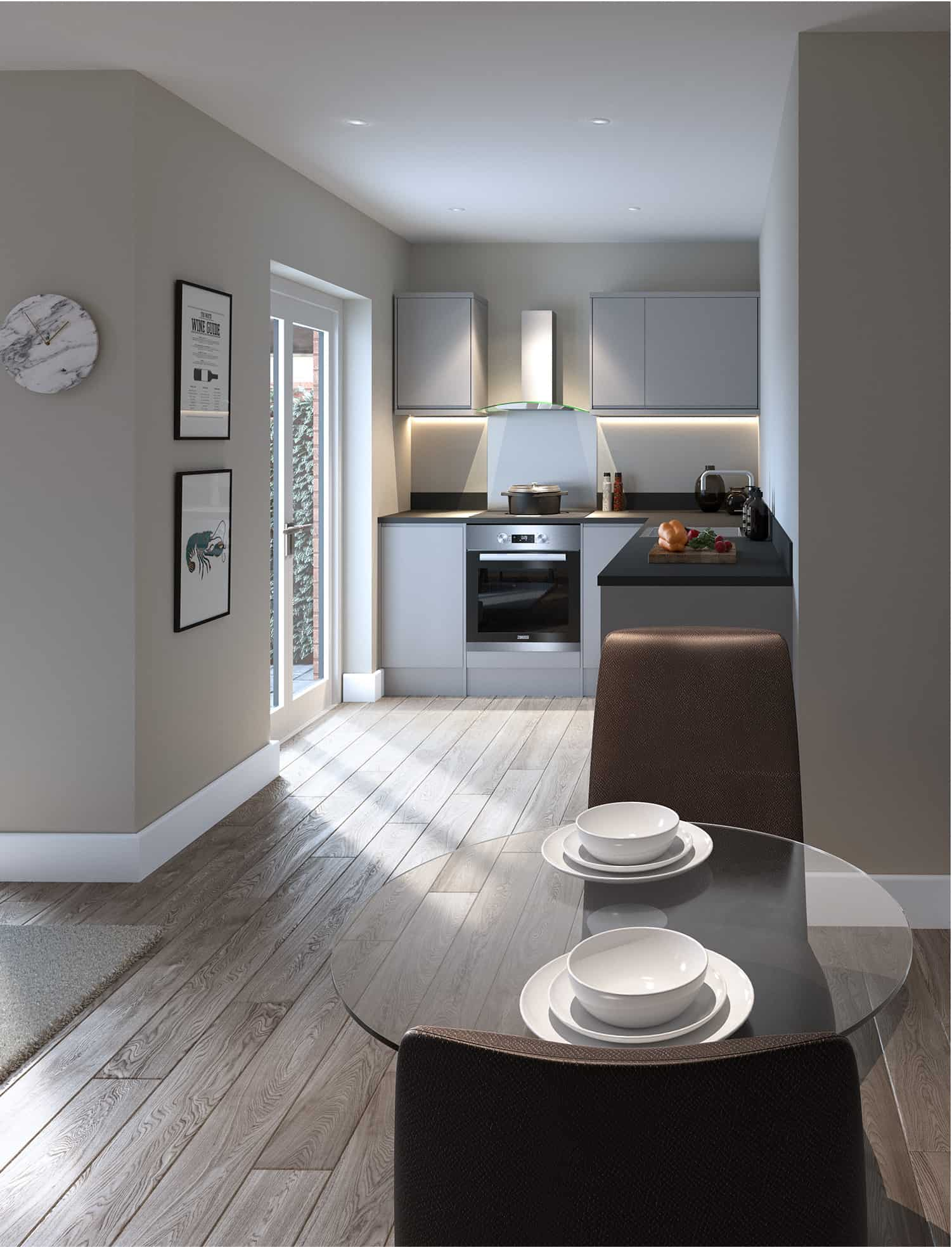 St Pancras CGI Image Interior Commercial to Residential Property Conversion Apartment