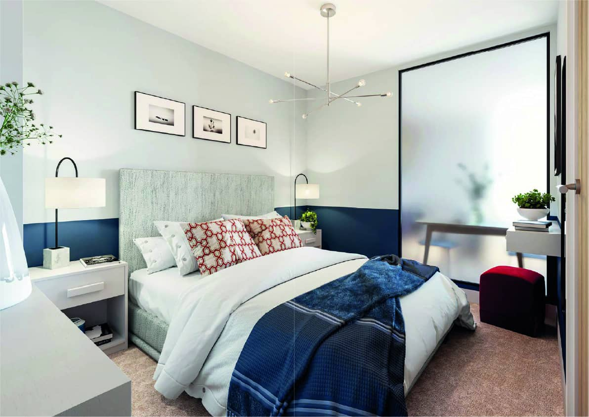 Furness House Bedroom Interior Commercial to Residential Property Conversion Apartment