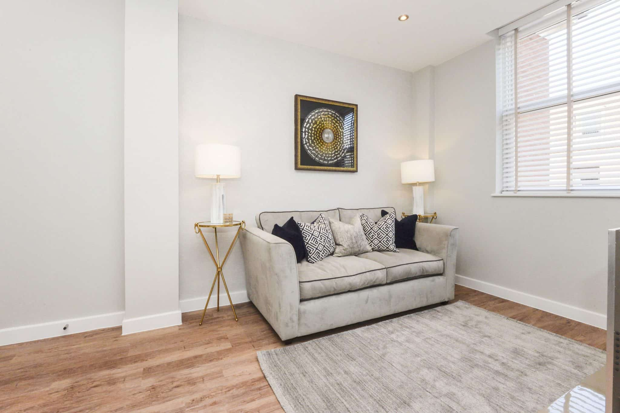 Lounge Interior Commercial to Residential Property Conversion Apartment